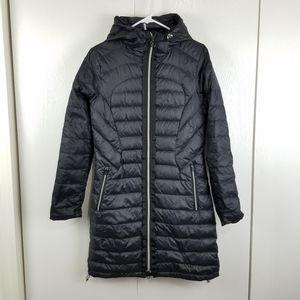 LuLuLemon full zip black puffer hooded coat